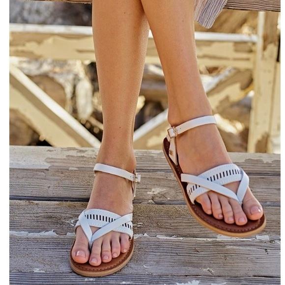 Toms Lexie Metallic Leather Sandal